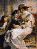 Peter Paul Rubens, Helena Fourment with her Children, Clara, Johanna and Frans