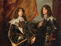 Anthony van Dyck, Portrait of the Princes Palatine Charles-Louis I and his Brother Robert